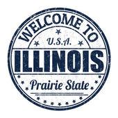 Welcome to Illinois stamp — Stok Vektör