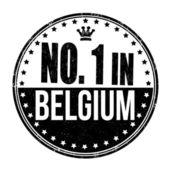 Nummer ett i belgien stämpel — Stockvektor