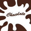 Chocolate splash background — Stock Vector #12794073