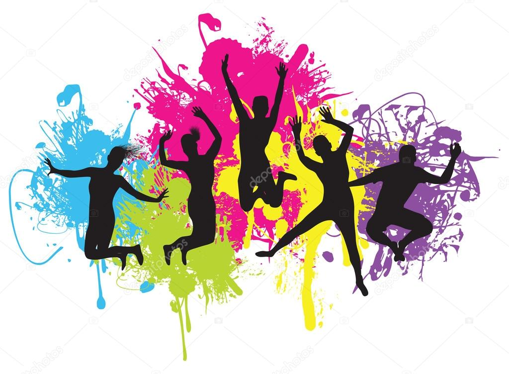 Youth vector background