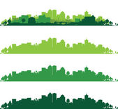 Set of cityscapes — Stock Vector