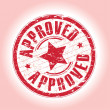 Approved stamp — Vector de stock