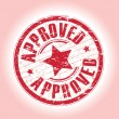 Approved stamp — Stockvectorbeeld