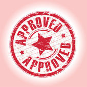 Approved stamp — Stock Vector