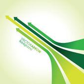 Green arrow strips — Stock Vector