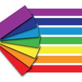книга цвета радуги — Cтоковый вектор