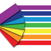 Libro de color arco iris — Vector de stock