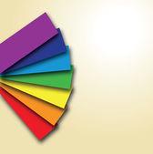 Rainbow colour book — Stock Vector