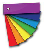 Rainbow colour book — Vector de stock