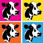 Cow heads — Stock Vector