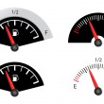 Fuel gauge — Stock Vector