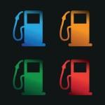Petrol pumps — Stock Vector