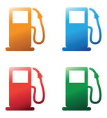 Petrol pumps — Stock Vector