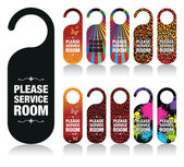 A set of please service my room signs — Stock Vector