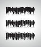 Silueta de gente de negocios — Vector de stock