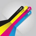 Cmyk print lines — Stock Vector #32064363