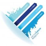 A splash blue line arrow line background — Stock Vector