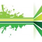 Green line splash arrow background — Stock Vector