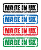 Set of made in uk stamps — Stock Vector