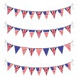 Usa and uk bunting — Stock Vector