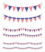 Usa bunting — Stock Vector