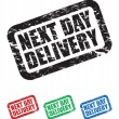 Set of next day delivery stamps — Stock Vector