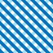 Stock Vector: Blue gingham background