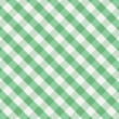 Stock Vector: Green gingham background