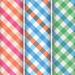 Stock Vector: Multicoloured gingham background