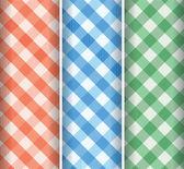 Multicoloured gingham background — Stock Vector