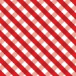 Stock Vector: Red gingham background