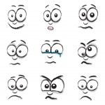 Cartoon face group — Stock Vector #42457121