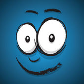 Happy cartoon face — Stock Vector