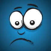 Unhappy cartoon face — Stock Vector