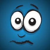 Concerned cartoon face — Stock Vector