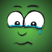 Crying cartoon face — Stock Vector