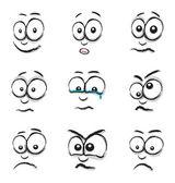 Cartoon face group — Stock Vector
