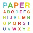 Paper alphabet text — Stockvektor  #44343745