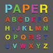 Paper alphabet text — Vecteur #44343829
