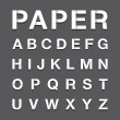 Paper alphabet text — Stockvektor  #44343847