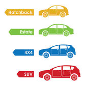 Set of four cars — Stock Vector