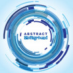 círculo abstracto fondo — Vector de stock