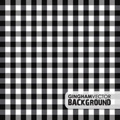 Black gingham background — Stock Vector