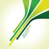 Green arrow line background — Stock Vector