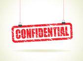 Confidential hanging sign — Stock Vector