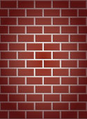 Seamless a red brick wall with shading in the corners — Stock Vector