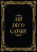 Gatsby art deco background — Stock Vector