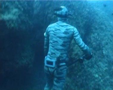 Subacqueo cacciatore apnea — Video Stock