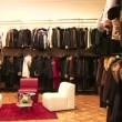 Stock Video: Fur coats store