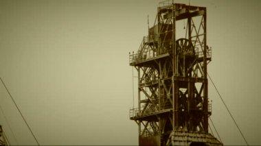 Industrial derricks — Stock Video
